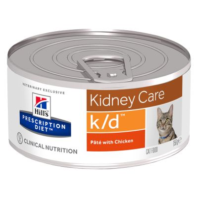 Hill's Prescription Diet Feline k/d Kidney Care - kana - säästöpakkaus: 24 x 156 g