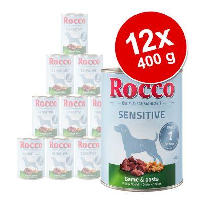 Rocco Sensitive -säästöpakkaus 12 x 400 g - lammas & riisi