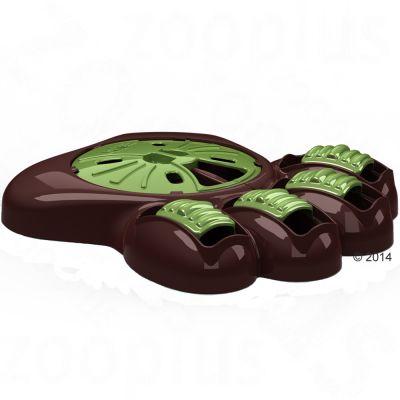 Aikiou matskål och Braingame – brun/grön: L 34,5 x B 37 x H 7,5 cm