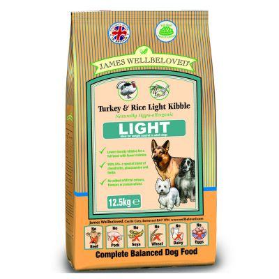James Wellbeloved Light Turkey & Rice – 12,5 kg