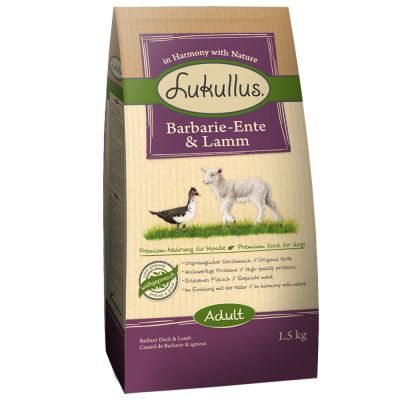 Lukullus con pato Barbarie y cordero - 2 x 10 kg - Pack Ahorro