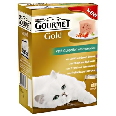 12 x 85 g Gourmet Gold Variaties Kattenvoer Delicatesse 4 verschillende smaken