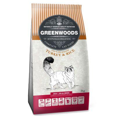 Zestaw Greenwoods: karma sucha + żwirek roślinny - Adult, indyk