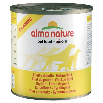 Almo Nature Classic, 6 x 280 g / 290 g - Filet z kurczaka, 280 g