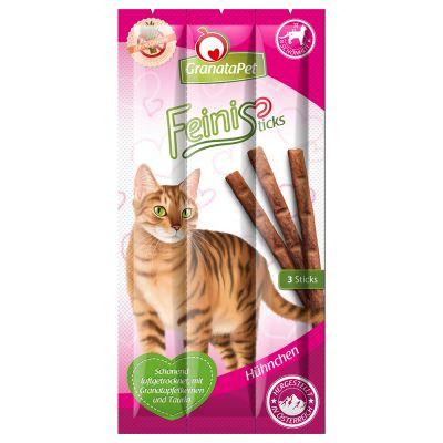 GranataPet Feini Sticks Hühnchen - Sparpaket: 3 x 3er Pack