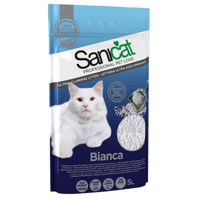 Sanicat Bianca żwirek zbrylający się - 3 x 5 l