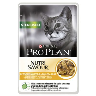 Pro Plan Sterilised 6 x 85 g – Sterilised Chicken