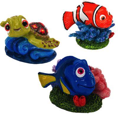 Hitta Nemo akvariedekoration, 3-delat set – 3-delat set