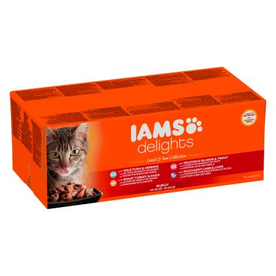 iams-delights-adult-land-sea-48-x-85-g-kattenvoer-in-saus