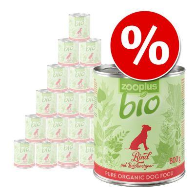 zooplus Bio 24 x 800 g erikoishintaan! - mix: kana, kalkkuna