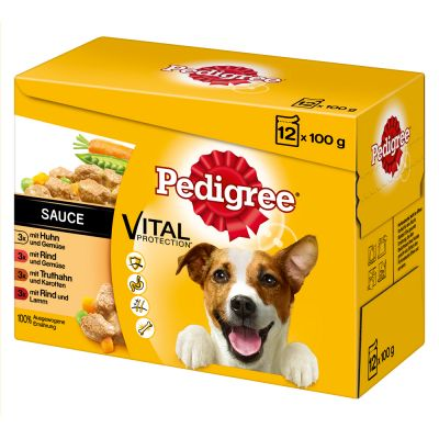 Pedigree Pouch in Sauce -monipakkaus - 12 x 100 g