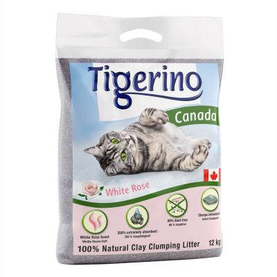 Tigerino Canada White Rose -kissanhiekka - 12 kg