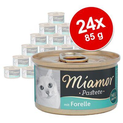 Miamor Pâté -säästöpakkaus 24 x 85 g - lohi