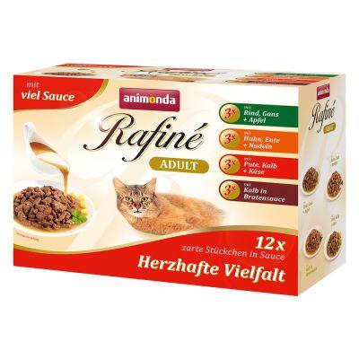 Image of Mixpaket Animonda Rafiné 12 x 100 g - Delikate Vielfalt in Sauce (4 Sorten)
