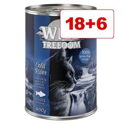 18 + 6 kaupan päälle! Wild Freedom 24 x 400 g - Green Lands - lammas & kana 24 x 400 g