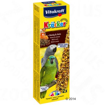 Vitakraft Parrot Cracker Sticks - African Honey