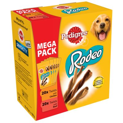 Pedigree Rodeo Mix - 20 x kana, 20 x nauta