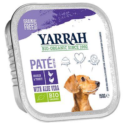 Yarrah Organic Paté 12 x 150 g - kana & merilevä