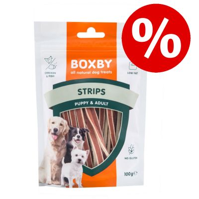 Boxby koiranherkut 15 % alennuksella! - Boxby Strips (100 g)