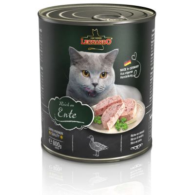 Leonardo All Meat Blikjes Kattenvoer 6 x 800 g Gevogelte puur