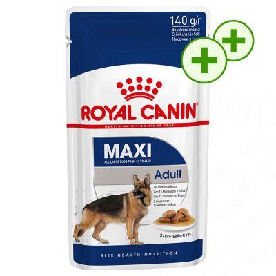 2x zooPisteitä: Royal Canin -märkäruoka säästöpakkaukset - Maxi Adult (40 x 140 g)
