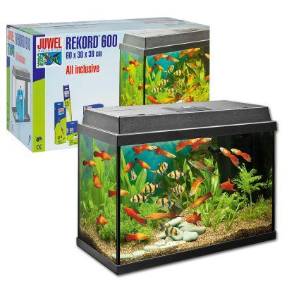 Juwel Rekord 600 akvarium – Ca 63 liter, svart
