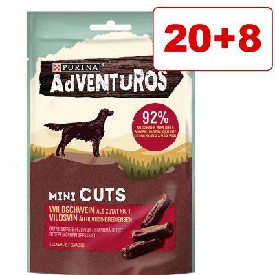 Adventuros-välipalat 20 + 8 kaupan päälle! - Adventuros Mini Steaks peura (28 x 70 g)