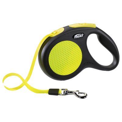 flexi New Neon M - 5m nauha - musta/neonkeltainen
