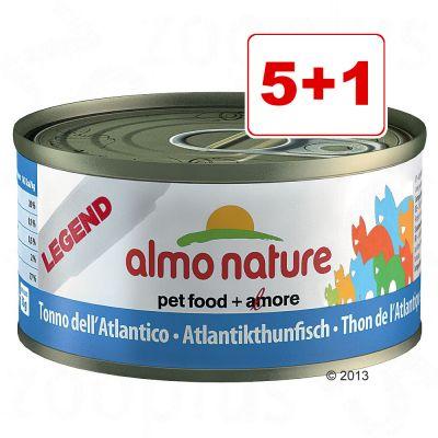 Almo Nature Legend 6 x 70 g: 5 + 1 kaupan päälle! - Atlantin tonnikala