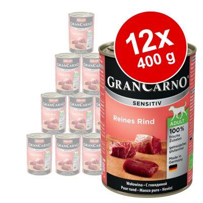Animonda GranCarno Sensitive -säästöpakkaus 12 x 400 g - mix, 6 makua