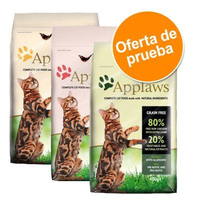 Applaws Adult Naturally Hypoallergenic pienso para gatos - Pack mixto - 3 x 2 kg: cordero, pollo y salmón