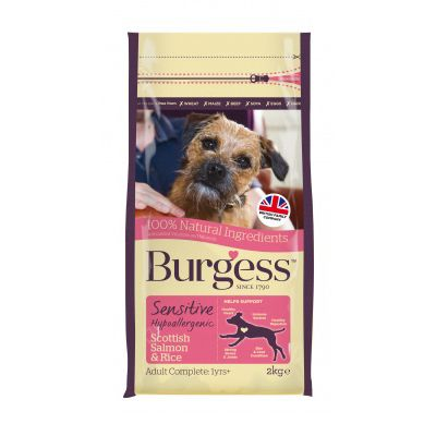 Burgess Sensitive Salmon & Rice Adult Dog Food