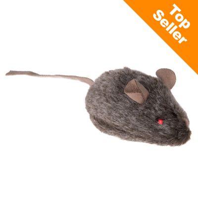 Divoká myška pre mačky - pípajúca so svietiacimi očami - 3 kusy