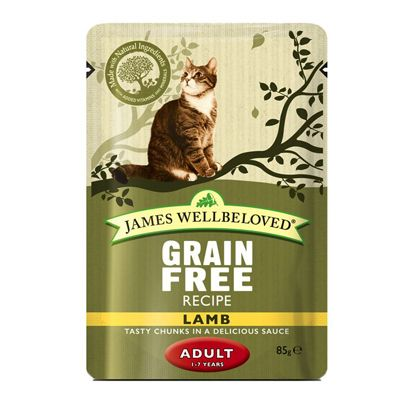 James Wellbeloved Adult Cat Pouches - Lamb - 12 x 85g