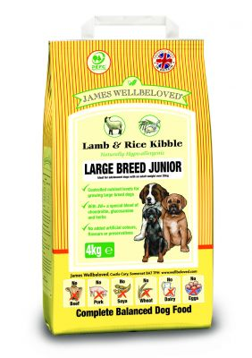 james-wellbeloved-junior-large-breed-lam-ris-okonomipakke-2-x-15-kg