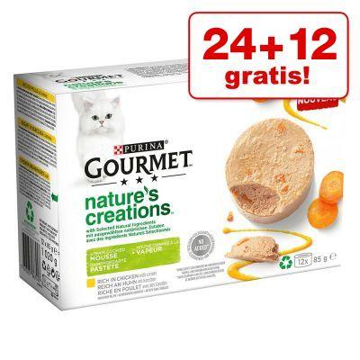24 + 12 på köpet! 36 x 85 g Gourmet Nature's Creations - Tonfisk med tomat & ris