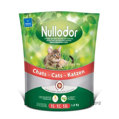 Nullodor kattsand med silikat - 3 liter ( 1,5 kg )