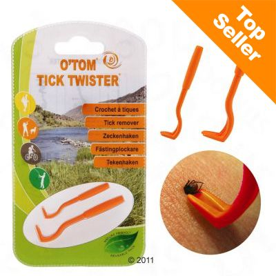 O'Tom Tick Twister -punkkikoukku - säästöpakkaus: 3 kpl oranssi