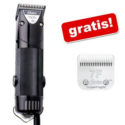 oster-klippemaskine-golden-a5-7f-skarehoved-gratis-klippemaskine-1speed-7f-skarehoved-gratis