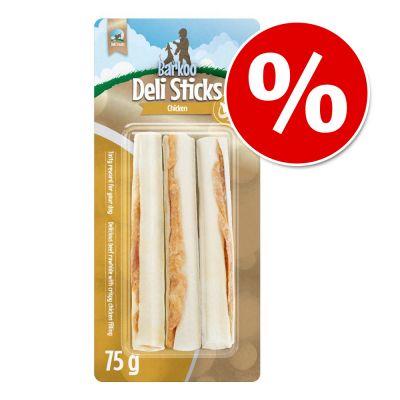 Barkoo Deli Snacks para perros ¡con descuento! - Bones Chicken huesos con nudos - L, 1 x 19 cm (85 g)