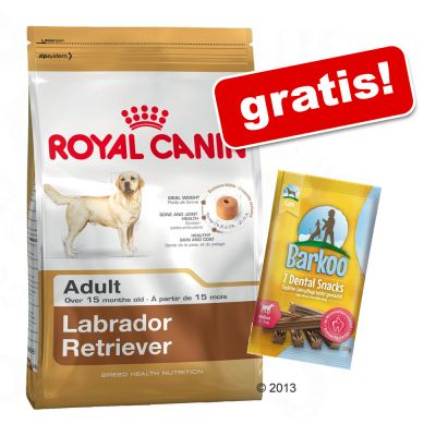Stor påse Royal Canin Breed + Barkoo Dental Snacks på köpet! - Boxer Adult (12 kg)