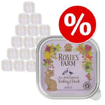 27 + 5 på köpet! Rosie's Farm 32 x 100 g - Kalkon & anka