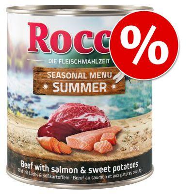 Rocco-kesämenu erikoishintaan! – naudanliha, lohi & bataatti