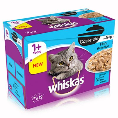 Whiskas Casserole Fish Selection in Jelly - 12 x 85g