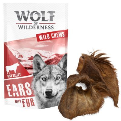 Wolf of Wilderness High Valley - karvaiset naudankorvat - 120 g, 3 kpl