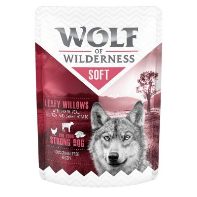 "Wolf of Wilderness Adult Pouch ""Leafy Willows"" - Huhn mit Kalb"