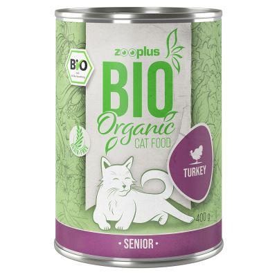 zooplus Bio Senior krůtí s mrkví 6 x 400 g