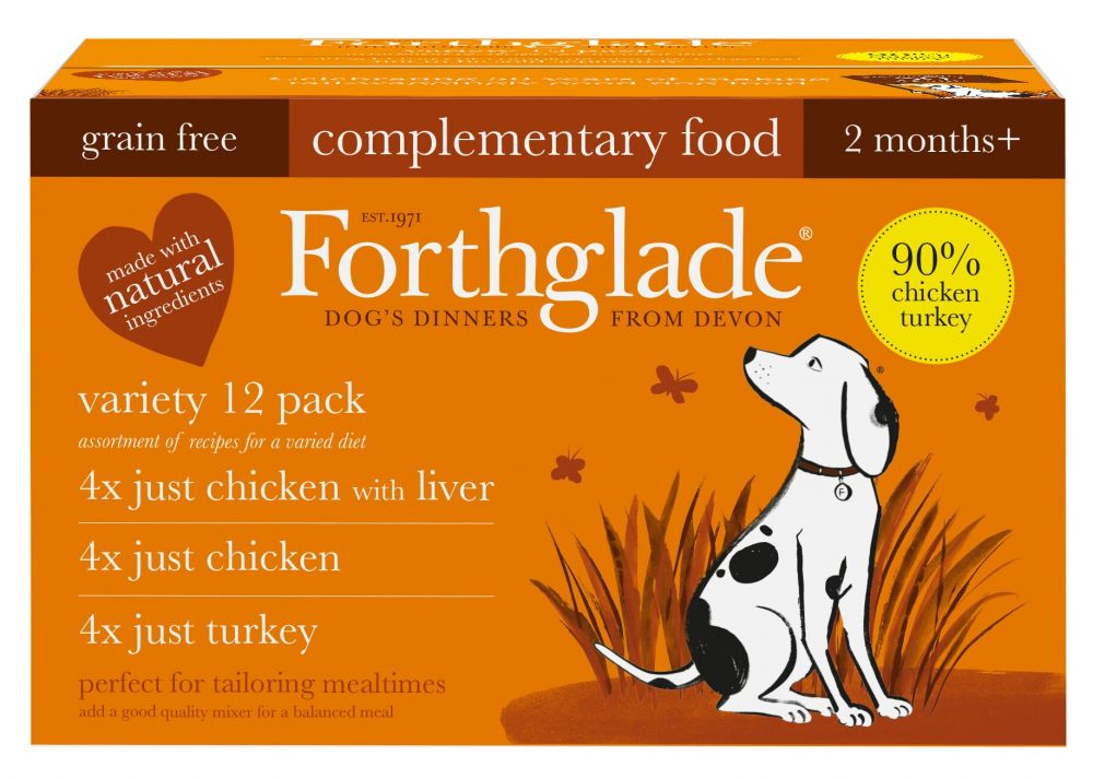 Forthglade Just 90% Grain-Free Adult Dog - Just Poultry - 12 x 395g