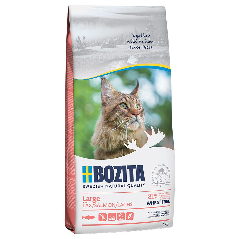 2x10kg Large Wheat Free Bozita Dry Cat Food