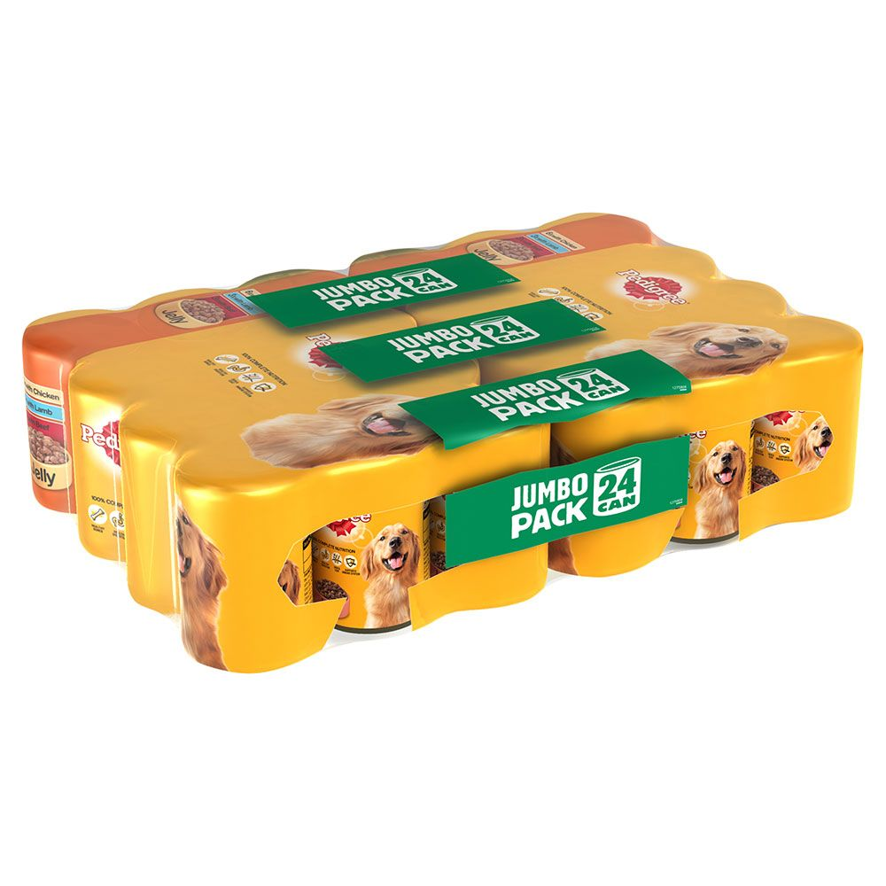 Pedigree Adult Multipack in Jelly Wet Dog Food - 24 x 385g
